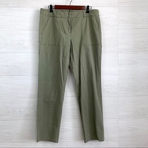 LOFT Army Green Flap Pocket Straight Pants